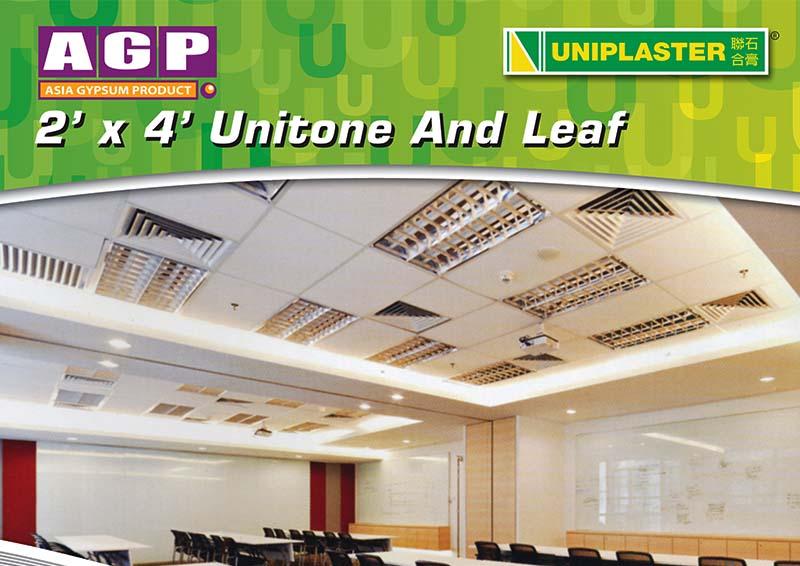 Uniplaster – 2 x 4 Unitone & Leaf Leaflet Front