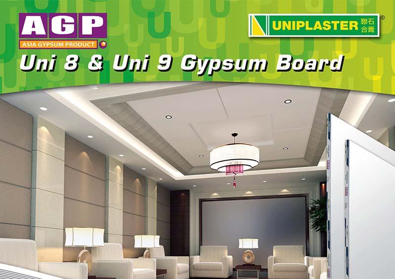 Uniplaster – AGP Uni 8 and Uni 9 Leaflet Front