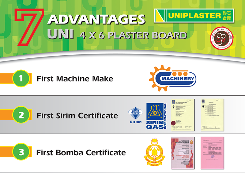 Uniplaster 7 Advantages